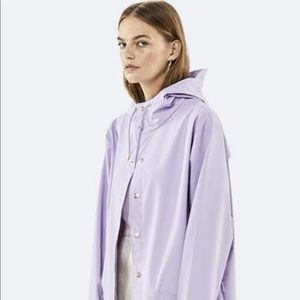 IRIDESCENT BLUE RAINS JACKET